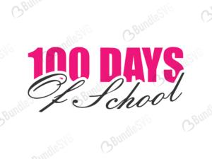 100 days svg, 100 days, school svg