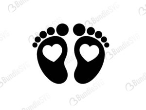 Baby Feet Cricut Bundlesvg
