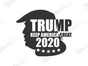 Trump 2020 Silhouette Bundlesvg