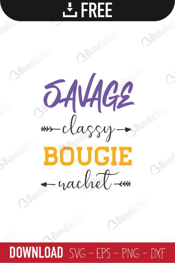 Savage Classy Bougie Ratchet SVGPNGJPG File