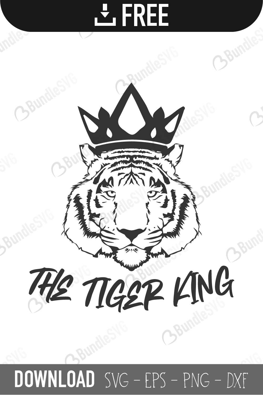 The Tiger King Svg Cut Files Free Download Bundlesvg