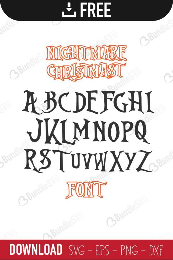 Nightmare Christmas Font Svg Cut Files Free Download Bundlesvg