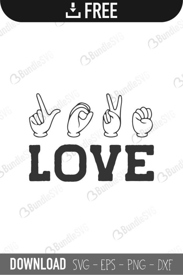 I Love You Sign Language Svg Cut Files Free Download Bundlesvg