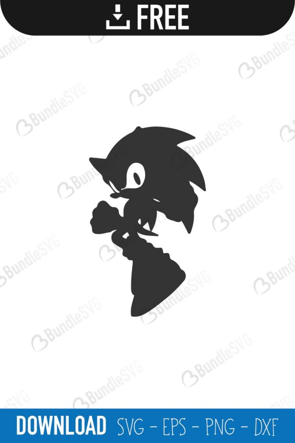 Sonic Hedgehog Svg Cut Files Free Download Bundlesvg Com