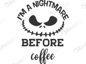 nigthmare, before coffee, halloween, cutting, machines, sally, jack, skellington, jack skellington, free, svg free, svg cut files free, download, shirt design, cut file,