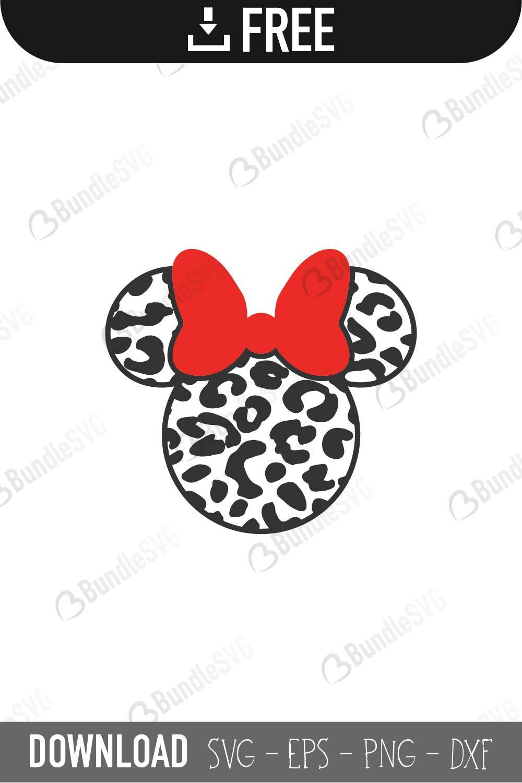 Minnie Mouse Cheetah Svg Cut Files Free Download Bundlesvg