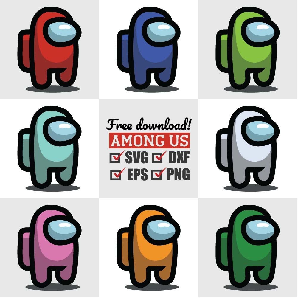Bundle 36 FILES 12 Designs!! Among Us Svg Birthday Balloons SVG PNG Among Us Vector All Colors Among Us Cut Files